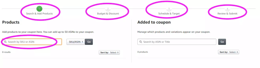 create amazon coupon step 3