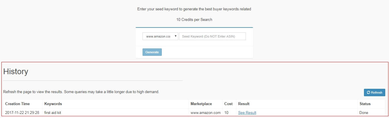 amazon keywords generator